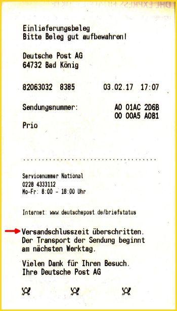 Neu Briefzusatzleistung Prio