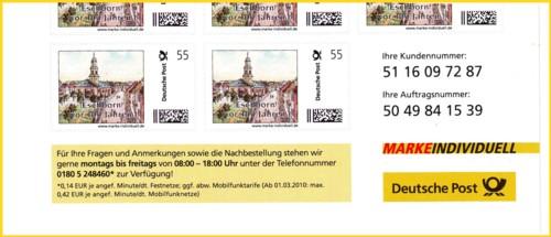 Deutsche Post 3 Briefe Mit Handyporto-marken Gelaufen