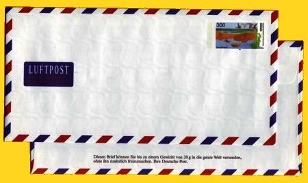 Versuchs - Plusbrief Welt Luftpost 300 Pfennig - Motiv Vorpommersche Boddenlandschaft