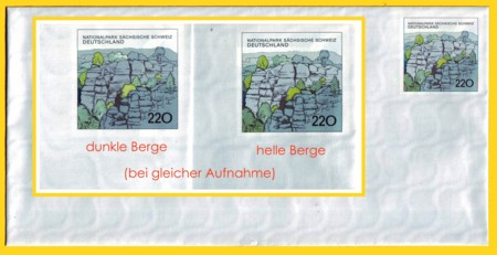 Plusbrief kompakt 220 Pfg. - Motiv Sachsische Schweiz - helle Berge