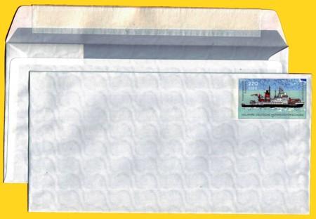 Plusbrief kompakt ohne Fenster 220 Pfg./112 Ct. neues Motiv Antarktis Klebestreifen weiß
