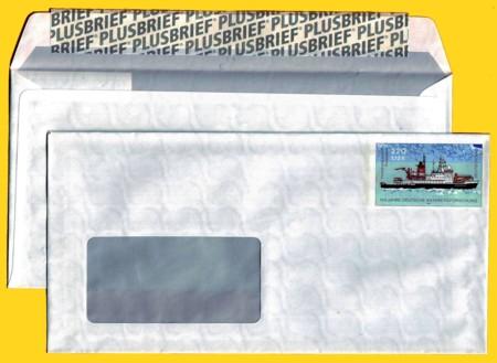 Plusbrief kompakt mit Fenster 220 Pfg./112 Ct. neues Motiv Antarktis Klebestreifen Plusbrief
