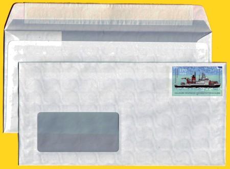 Plusbrief kompakt mit Fenster 220 Pfg./112 Ct. neues Motiv Antarktis Klebestreifen weiß