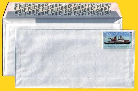 Plusbrief kompakt ohne Fenster 220 Pfg./112 Ct. neues Motiv Antarktis Klebestreifen Plusbrief
