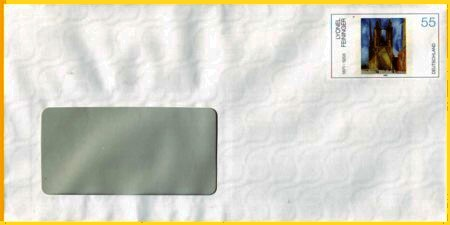 Plusbrief Cuvertierhülle naßklebend 55 Cent - Motiv Feininger