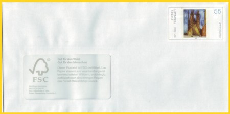 Plusbrief 55 Cent naßklebend Motiv Feininger - neu FSC