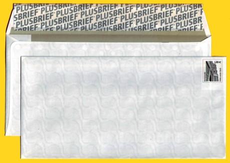 Plusbrief kompakt ohne Fenster mit fallenden WZ - Motiv Porta Nigra Trier