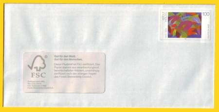Plusbrief kompakt mit Fenster erstmals mit FSC Vermerk - Motiv Hölzel