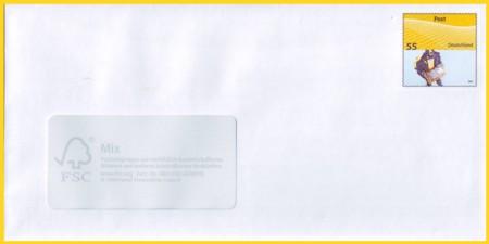 Plusbrief 55 Cent naßklebend Motiv Zustellung