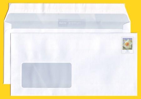 Plusbrief kompakt 90 Cent Notauflage kein FSC Mix Vermerk - Motiv Narzisse