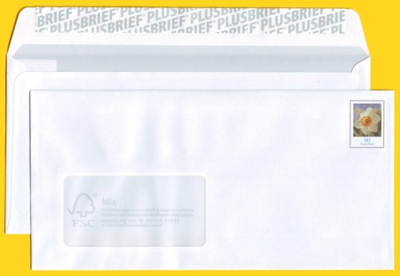 Plusbrief kompakt 90 Cent mit Fenster - Motiv Narzisse