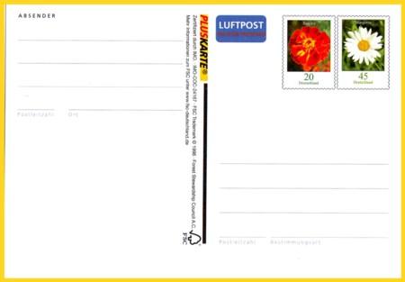 Lp-Pluskarte Europa 65 Cent (20 + 45)