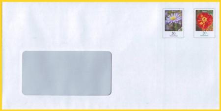 Plusbrief 70 Cent mit fehlenden Luftpostvermerk