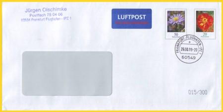 Lp-Plusbrief 70 Cent Abstand 7,5 mm zwischen Marken